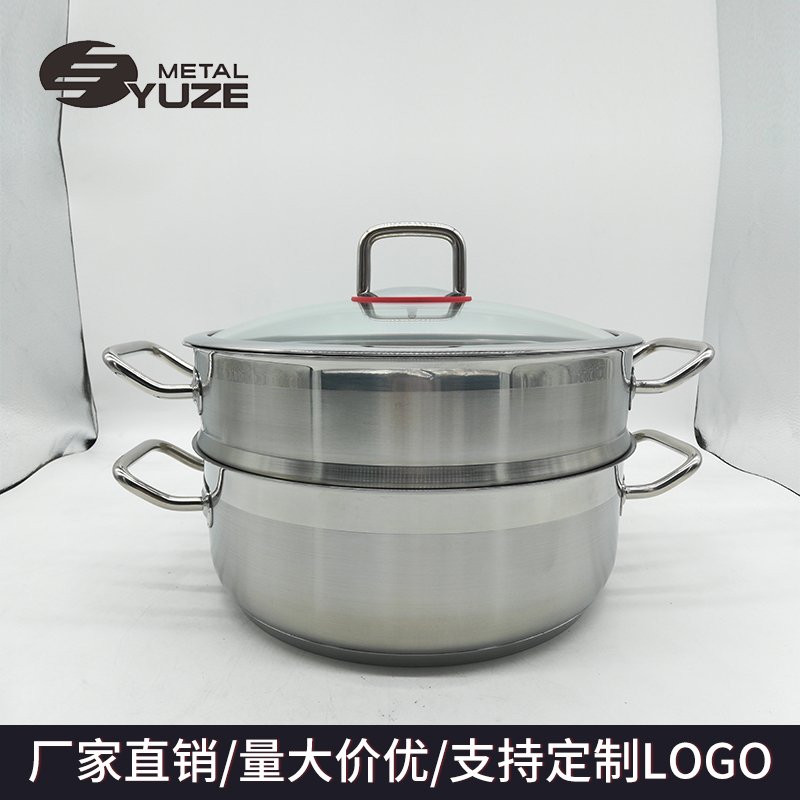 304不锈钢蒸锅加厚复底汤锅炉具通用